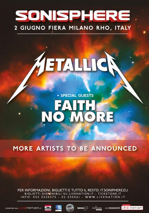 Sonisphere Festival 2015 - Metallica - Faith No More