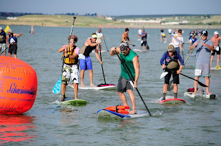 Inaugural Father's Day 4K and 1 Mile Stand Up Paddle Rez Race Draws a Crowd to the Boulder Reservoir 3
