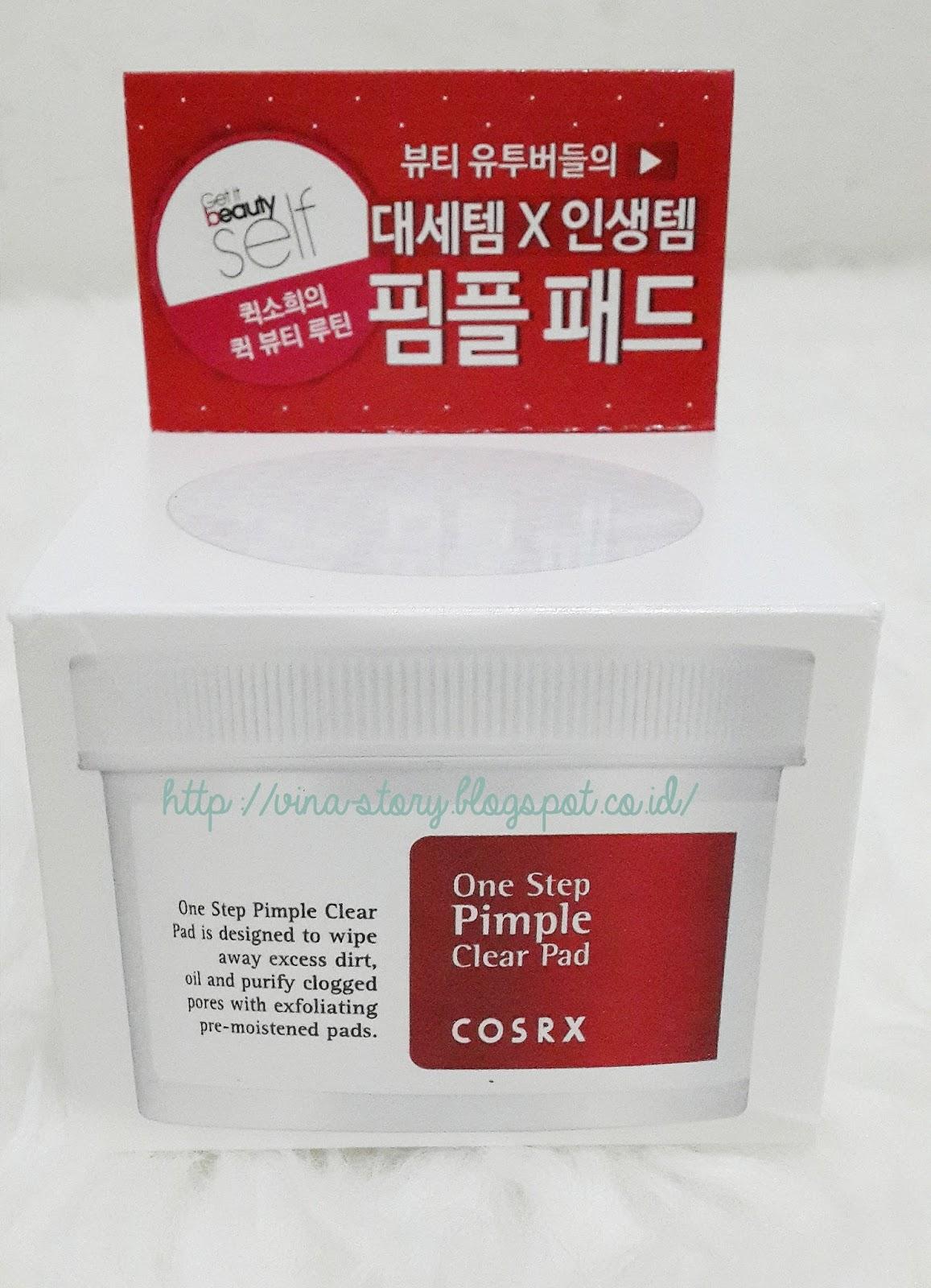 Vina Story Cosrx One Step Pimple Clear Pad Bebaskan Kulitmu 70 Pcs Uniknya Bagian Tutup Atas Box Dilengkapi Dengan Display Yang Sama Persis Aslinya