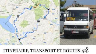 Itinéraire, transports et routes en Albanie