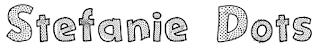 http://www.dafont.com/es/stefanie-dots.font