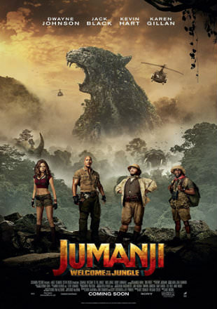 Poster of Jumanji: Welcome to the Jungle 2017 Full Hindi Movie Download Dual Audio 1080p Hd Watch Free Online In English