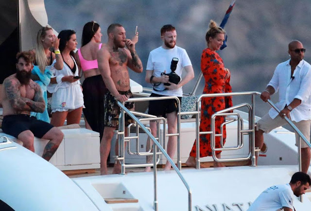 Conor Mcgregor Enjoying Two-Week Yacht Party In Spain Following Floyd Mayweather Defeat