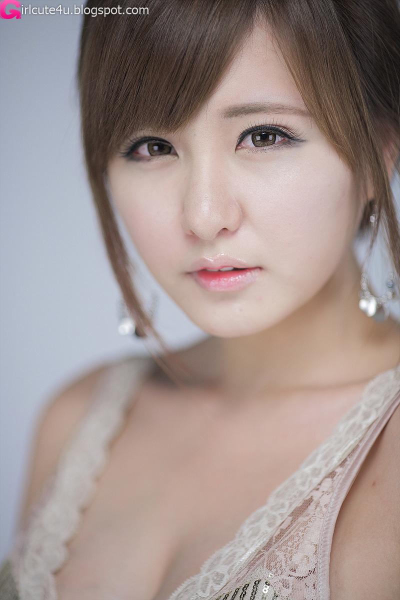 Ryu Ji Hye – V-Neck Dress ~ Cute Girl - Asian Girl