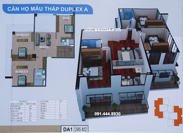 Chi tiết căn hộ Duplex dự án UDIC Westlake Võ Chí Công Tây Hồ