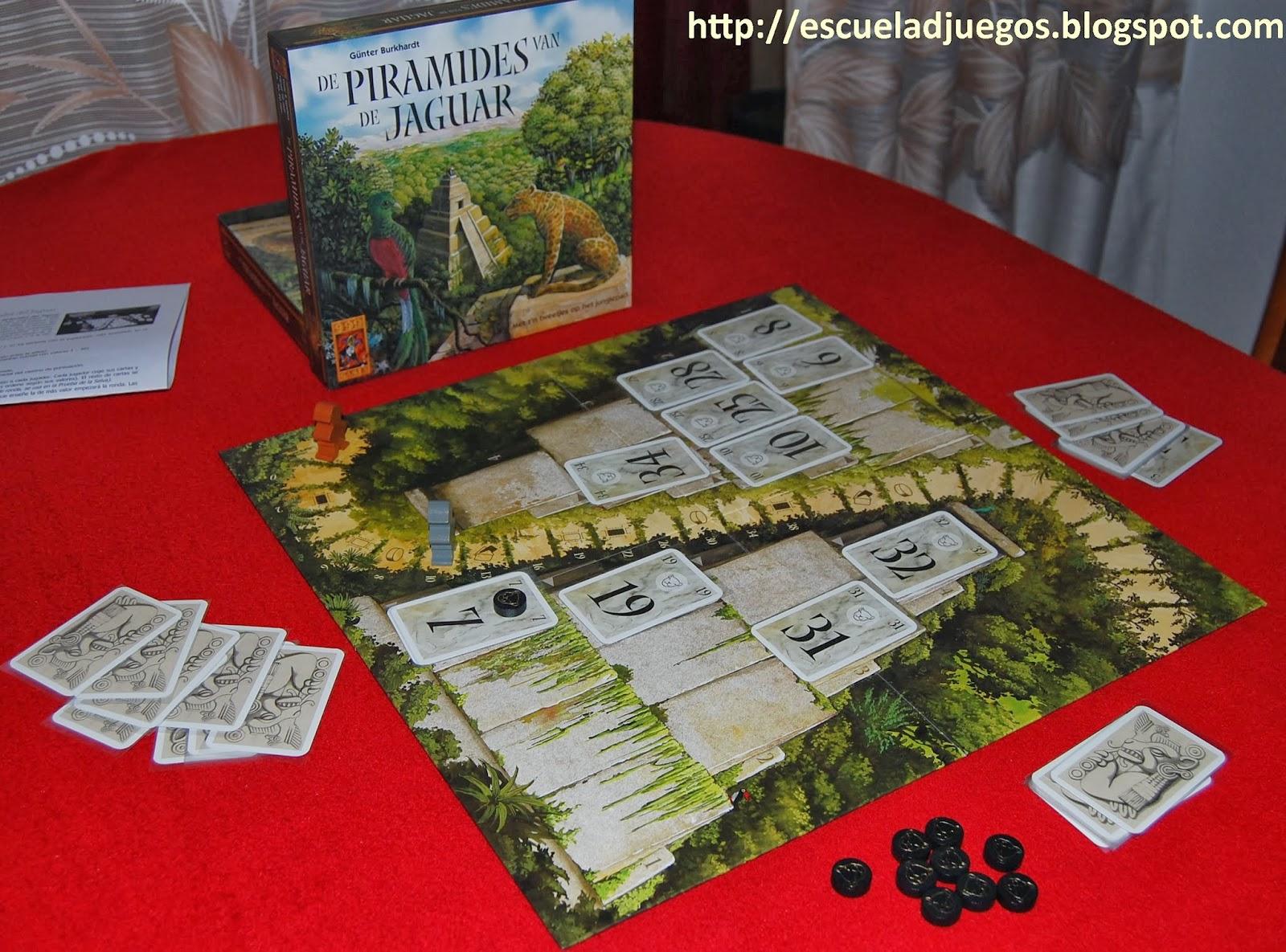 Reseña de De Piramides van de Jaguar o Las pirámides del Jaguar en castellano, juego de mesa para dos jugadores de 999 games