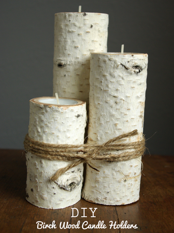 DIY Birch Wood Candle Holders by Oleander and Palm