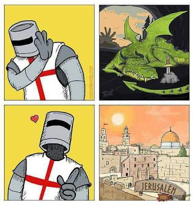 Meme sobre las Cruzadas