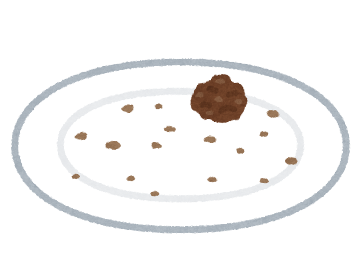 お皿に一つだけ残った食べ物のイラスト かわいいフリー素材集 いらすとや