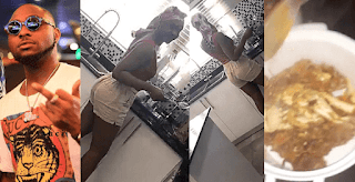 Hmmn! Davido Shares Video Of His Girlfriend, Chioma Cooking For Him