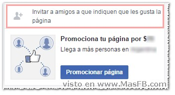 Invitar a Facebook fanpages - MasFB