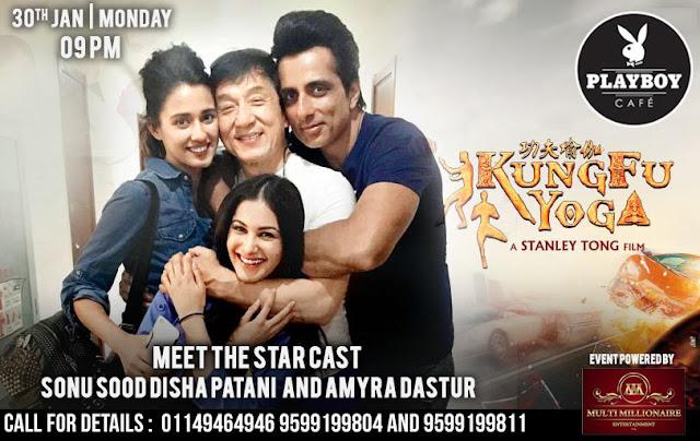 The Play Boy Cafe Presents Meet the starcast Sonu Sood, Disha Patani and Amyra Dastur