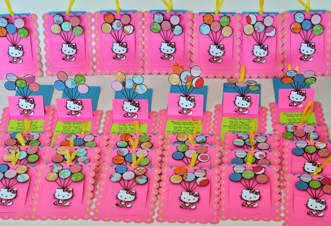adc848f25b Jingvitations  Handmade Invitations and Banner Hello Kitty Color ...
