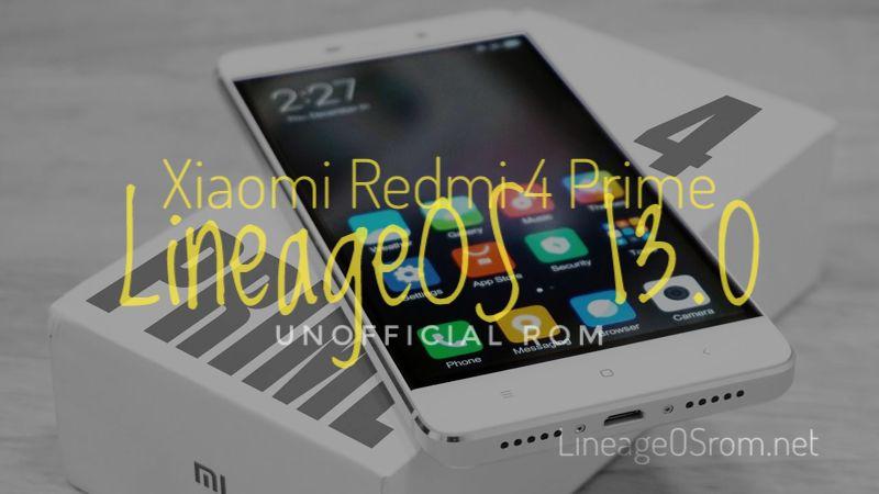 LineageOS for Xiaomi Redmi 4 Prime