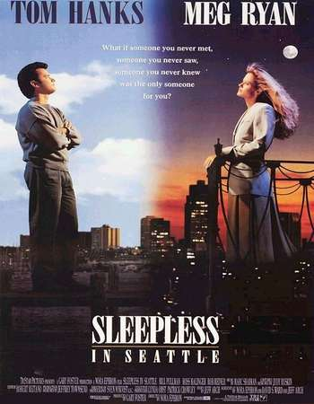 Poster Of Sleepless in Seattle 1993 English 300MB BRRip 480p Watch Online Free Download Worldfree4u