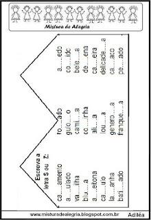 Atividade de fixação do S e Z