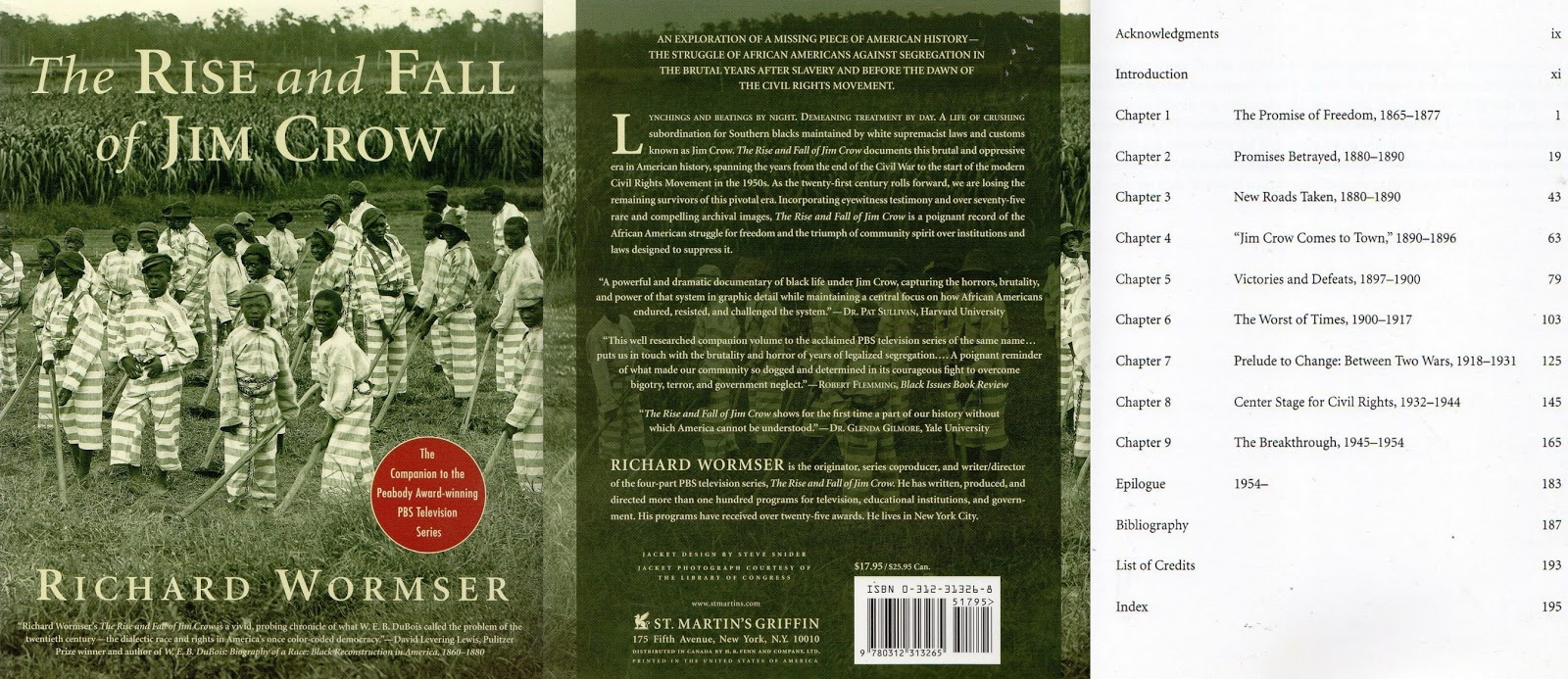 """the rise and fall of jim crow """"richard wormser's the rise and fall of jim crow is a vivid, probing chronicle of what web du bois called the problem of the twentieth century--the dialectic of race and rights in america's once color-coded democracy."""