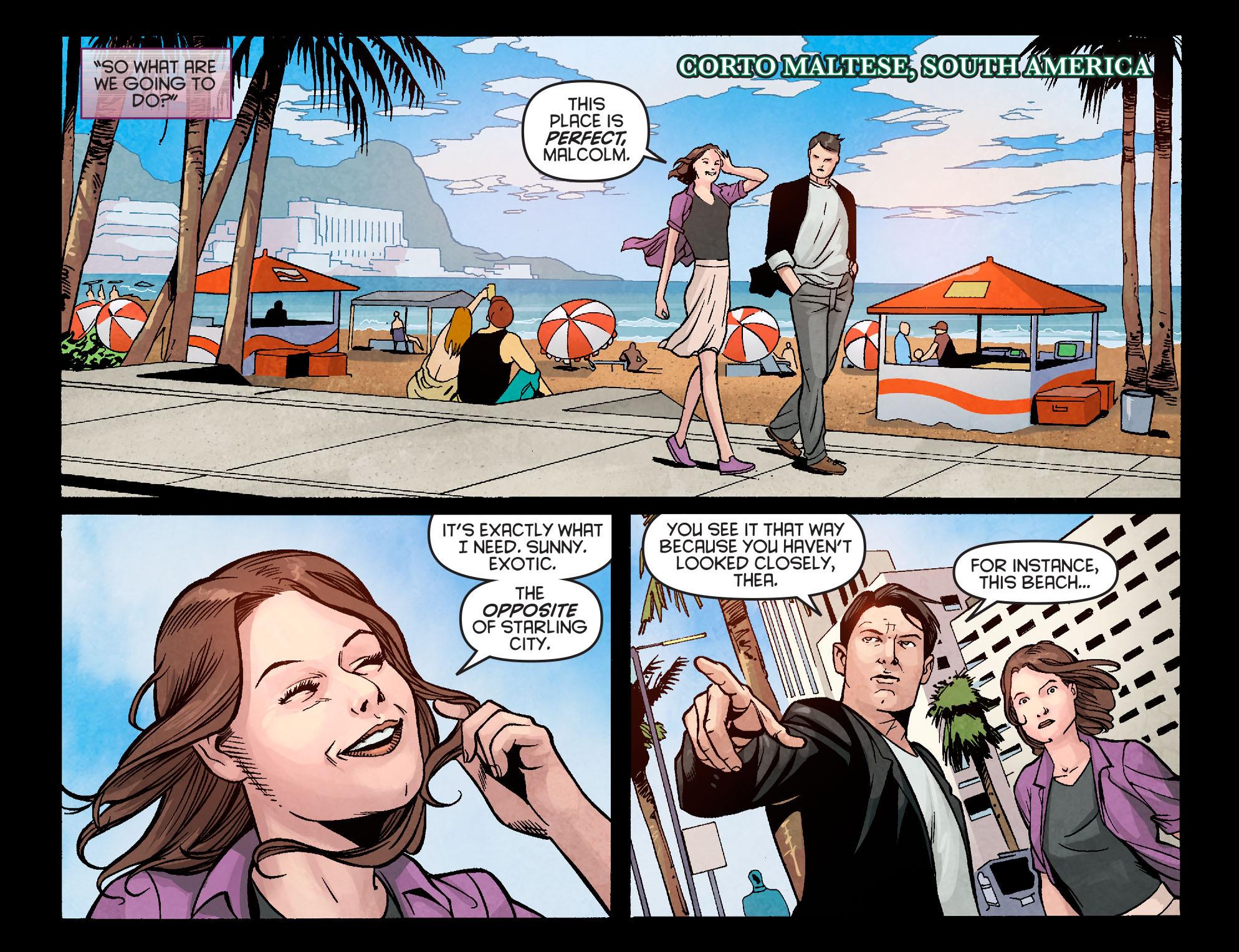 Read online Arrow: Season 2.5 [I] comic -  Issue #5 - 7