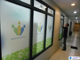 Installation of Frosted Stickers in Manila, Philippines