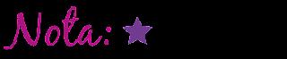 Nota: Uma estrela