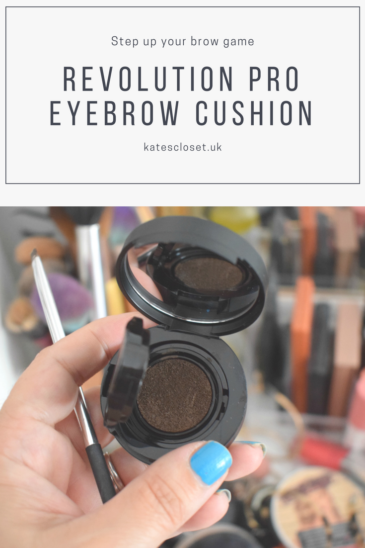 Revolution Pro Eyebrow cushion in Ebony my first impressions