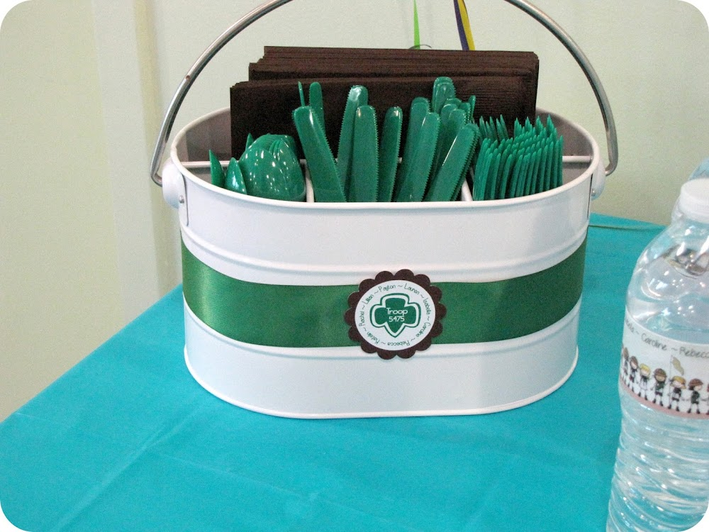 Girl Scout party decoration inspiration