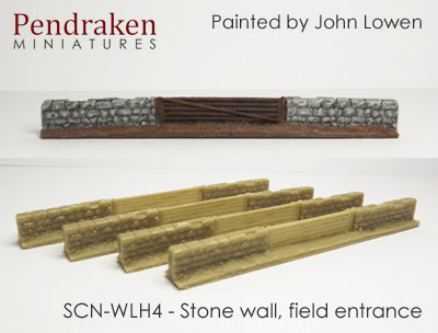 SCN-WLH4   Stone wall, field entrance (4 pieces)