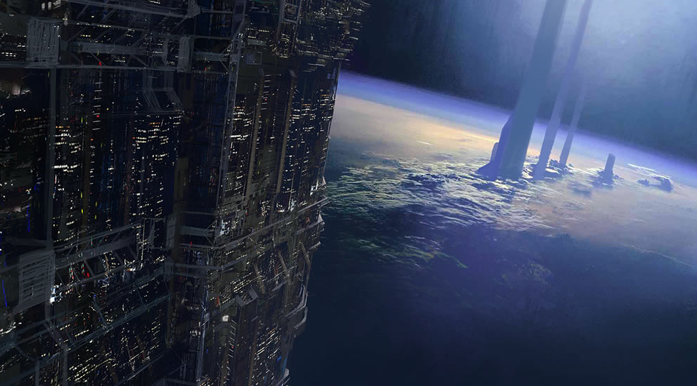 Heinlein Style Spaceflight With Supertall Towers And 2001