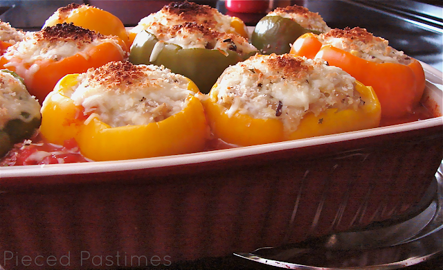 Stuffed Peppers is a favorite family comfort food. This recipe is a lightened up version that just happens to be every bit as delicious.