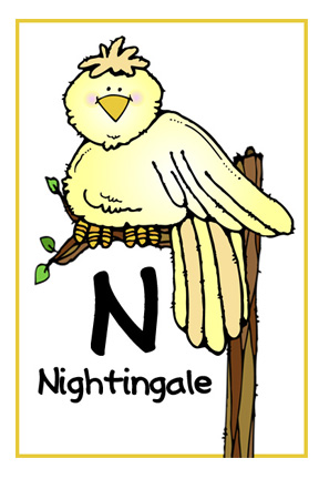 animal that starts with the letter n we being letter n nightingale 20451 | N