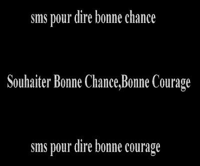 Sms Bonne Chance Poèmes Et Textes Damour