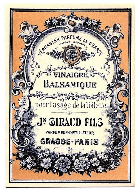Etiquette ancienne vinaigre balsamique