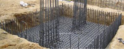 Construcción de zapatas combinadas, Armadura