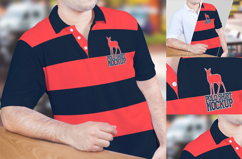 Polo Shirt Mockup PSD