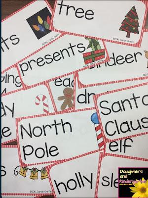 https://www.teacherspayteachers.com/Product/Christmas-Vocabulary-Word-Cards-Polka-Dots-804711