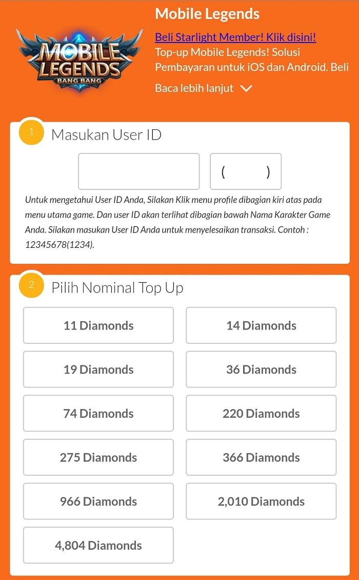 Hanya Pulsa 3000 Dapat 11 Diamond Dan Hero Freya Topup 220 Diamonds Mobile Legend Pilih Nomilal Top Up Yaitu 8 Metode Pembayaran Jika Ingin Menggunakan Silahkan Operator Simcard Anda