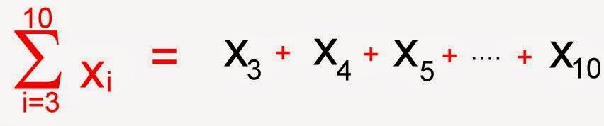 Somatória de valores intermediários de um conjunto - Notação sigma
