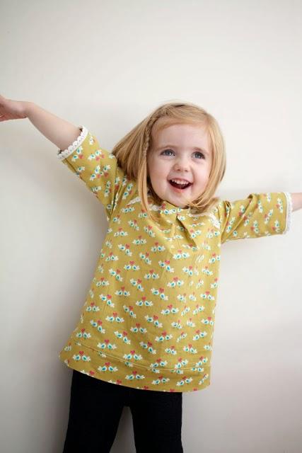 blusa de niña para principiantes