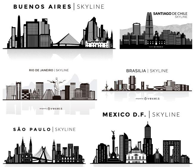 34 Latin American Skyline Vectors Preview 01 by Saltaalavista Blog