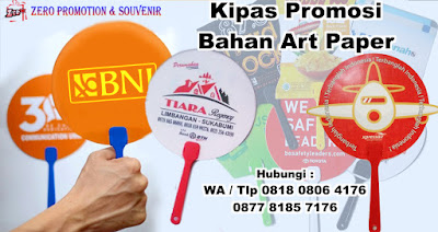 Hand Fan Promotion, Kipas Artpaper printing full colour, Kipas Souvenir Custom 2 Sisi, SOUVENIR KIPAS PROMOSI MURAH, kipas souvenir untuk promosi bahan art Paper