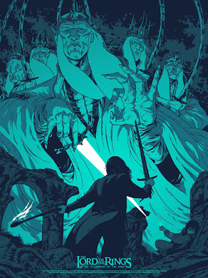"The Lord of the Rings: The Fellowship of the Ring ""A Knife In The Dark"" Screen Print by Johnny Dombrowski x French Paper Art Club"