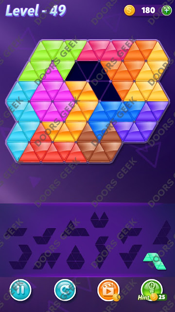 Block! Triangle Puzzle Grandmaster Level 49 Solution, Cheats, Walkthrough for Android, iPhone, iPad and iPod