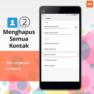 Cara menghapus kontak di Xiaomi