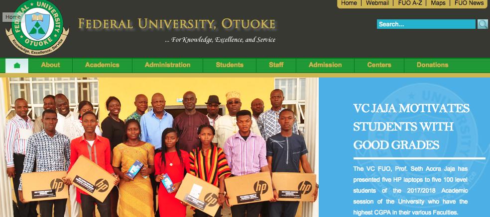 Federal University Otuoke Recruitment 2018