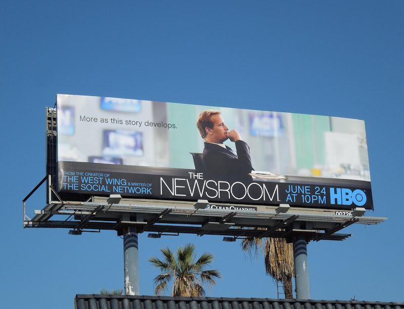 Newsroom HBO series premiere billboard