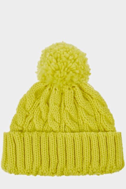 yellow beanie, lime beanie with pom pom,
