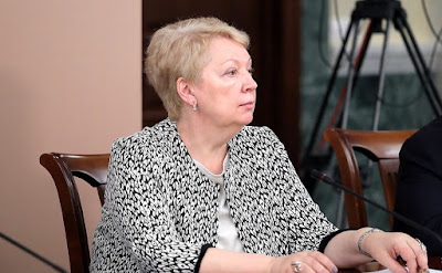 Education and Science Minister Olga Vasilyeva at a meeting of the Council for Interethnic Relations.