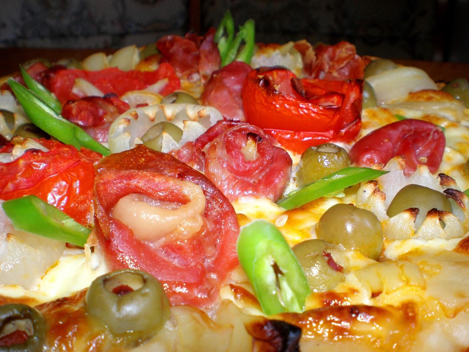 Pizza ca o grădină de flori