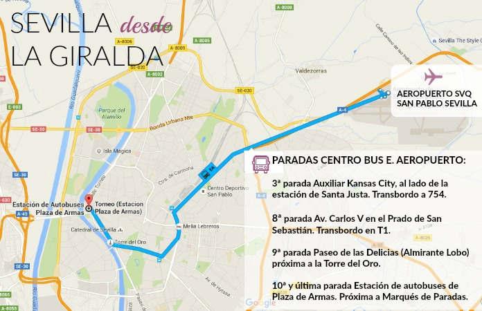 Llegar del aeropuerto de San Pablo Sevilla al centro
