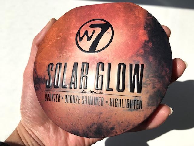 w7 solar glow bronzer bronze shimmer highlighter aydınlatıcı